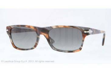 Persol PO3037S Progressive Prescription Sunglasses PO3037S-973-71-54 - Lens Diameter 54 mm, Frame Color Brown Spotted Blue/Brown