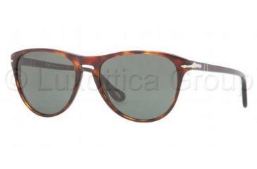 Persol PO3038S Sunglasses 24/31-5200 - Havana Frame, Crystal Green Lenses