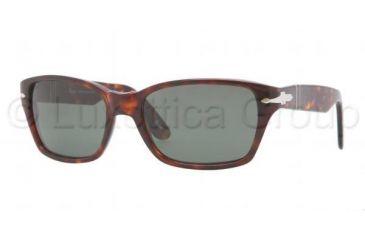 Persol PO3040S Sunglasses 24/31-5618 - Havana Frame, Crystal Green Lenses