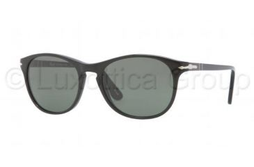 Persol PO3042S Sunglasses 95/31-5117 - Black Frame, Crystal Green Lenses