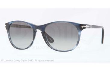 Persol PO3042S Bifocal Prescription Sunglasses PO3042S-997-71-51 - Lens Diameter 51 mm, Frame Color Brown Stripped Azure