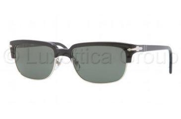 Persol PO3043S Sunglasses 95/31-5418 - Black Frame, Crystal Green Lenses