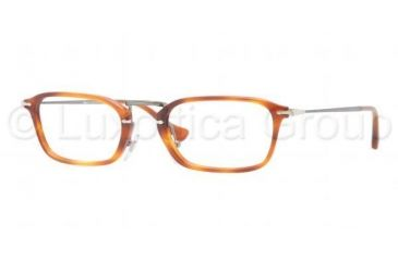 Persol PO3044V Progressive Prescription Eyeglasses 96-5021 - Light Havana Frame