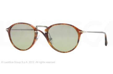 Persol PO3046S Single Vision Prescription Sunglasses PO3046S-108-83-51 - Lens Diameter 51 mm, Frame Color Light Havana