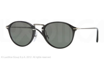 Persol PO3046S Single Vision Prescription Sunglasses PO3046S-95-58-51 - Lens Diameter 51 mm, Frame Color Black
