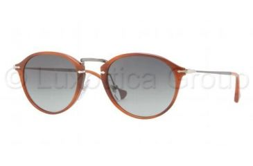 Persol PO3046S Single Vision Prescription Sunglasses PO3046S-957-71-4921 - Lens Diameter 49 mm, Frame Color Corrugated Brown