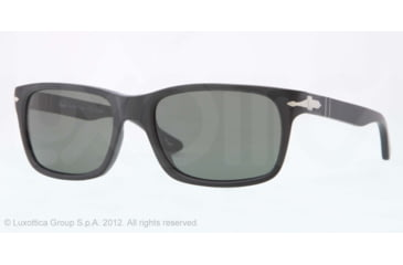 Persol PO3048S Sunglasses 900058-55 - Black Antique Frame, polar grey Lenses