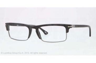 Persol PO3049V Progressive Prescription Eyeglasses 900-52 - Matte Black Frame, Demo Lens Lenses