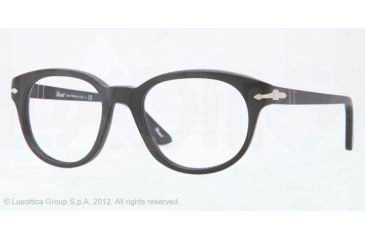 Persol PO3052V Bifocal Prescription Eyeglasses 9000-52 - Black Antique Frame, Demo Lens Lenses