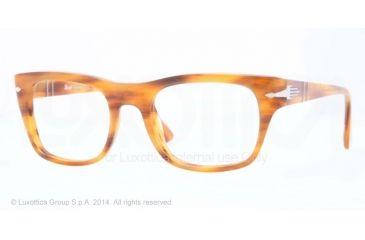 Persol PO3070V Bifocal Prescription Eyeglasses 960-52 - Stripped Brown Frame
