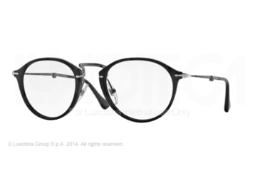 Persol PO3075VM Single Vision Prescription Eyeglasses 95-49 - Black Frame