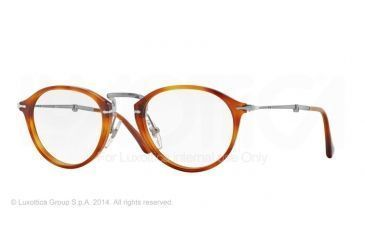 Persol PO3075VM Single Vision Prescription Eyeglasses 96-49 - Light Havana Frame