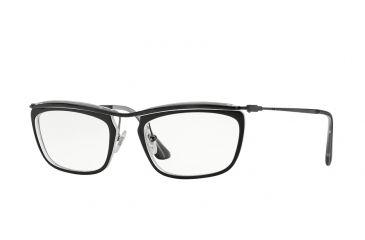bf40946515 Persol PO3084V Eyeglass Frames 1004-53 - Top Black matte Crystallo Frame