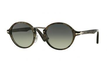3dc514f2fbf9d Persol PO3129S Sunglasses 102071-46 - Striped Grey Frame