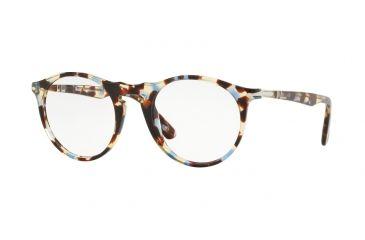 86e46f9f2d490 Persol PO3201V Prescription Eyeglasses 1058-49 - Azure Brown Frame