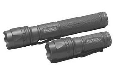 Phoebus Small Convertable Tactical Flashlight Works on CR123 Or 2 AA PK01CR123/2A