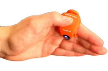 Phoebus Tactical ML-1 LED Mission Light Finger Flashlight, Orange, Small ML-1/O