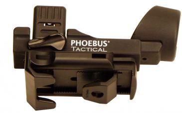 Phoebus Tactical PRFH-14 Quick Release Rotating Fast Holster Flashlight, Black, Medium PRFH-4/35