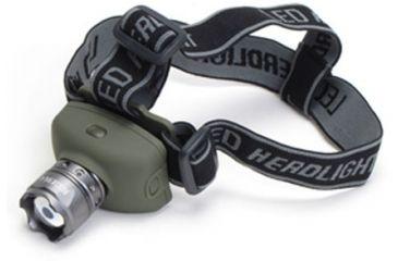 Phoebus Tactical RHL LED 3-Mode Rescue Focusing Headlamp with Strobe, Green, Medium RHL-4