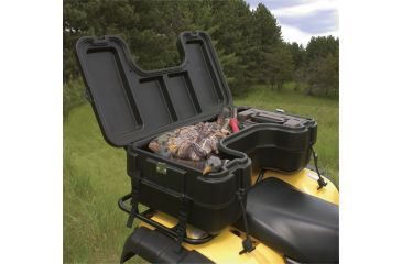 9-Plano Molding Rear Mount ATV Box w/ hinged cover - Black