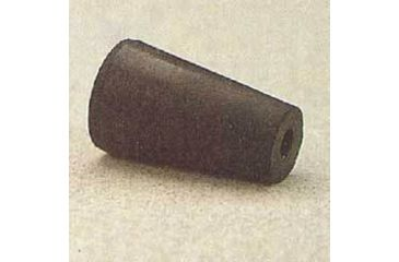 Plasticoid Black Rubber Stoppers, One-Hole 3--M291