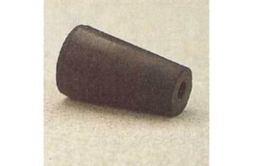 Plasticoid Black Rubber Stoppers, One-Hole 9.5M291