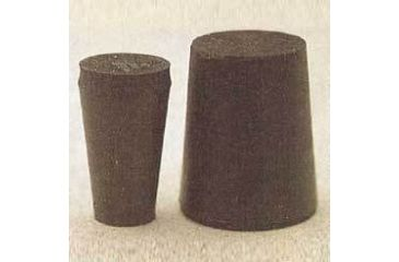Plasticoid Black Rubber Stoppers, Solid 0-M290