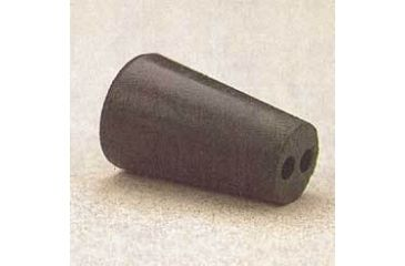 Plasticoid Black Rubber Stoppers, Two-Hole 8--M292