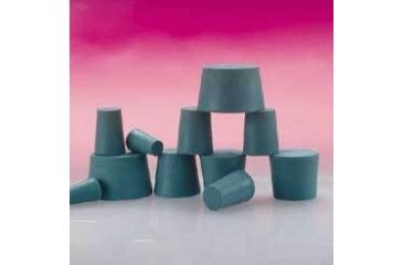 Plasticoid Green Neoprene Stoppers, Solid 000M350