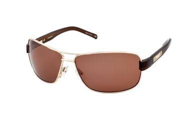 Polaroid Drifter Mens Sunglasses - Gold Frame, Polarized Dark Brown Lenses PD2809B
