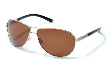Polaroid Hans Sunglasses - Light Gold, Polarized Brown Lenses PDP4121Y