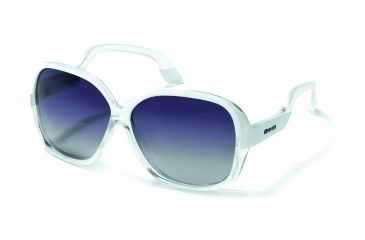 Polaroid Lillian Sunglasses - White, Polarized Grey Gradient Lenses PDP8142Y