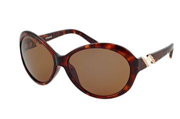 Polaroid Sherri Ladies Sunglasses - Demi Frame, Polarized Brown Lenses PDF8115Y