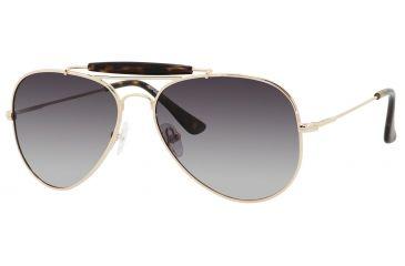 Polaroid X 4320/S Sunglasses X4320S-000U-NX-5916 - A / Gold Frame, Green Gradient Polarized Lenses, Lens Diameter 59mm, Distance Between Lenses 16mm