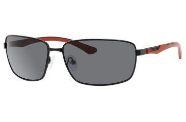 Polaroid X 4413/S Sunglasses X4413S-00A2-1T-6314 - Black Red Frame, Gray Polarized Lenses, Lens Diameter 63mm, Distance Between Lenses 14mm