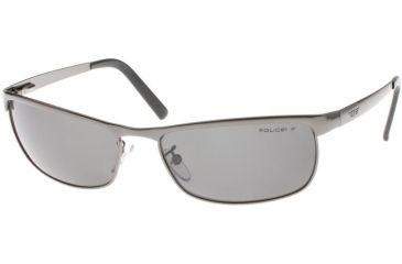 Police 8187 Sunglasses, Shiny Gunmetal Frame