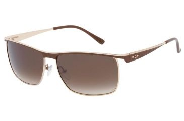 Police 8404 Sunshades with 316 Brown-Gold Frame