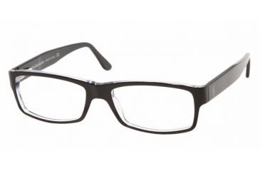 Polo PH 2015 Eyeglasses Styles Top Black/Crystal Frame w/Non-Rx 52 mm Diameter Lenses, 5011-5216, Polo Sport PH 2015 Eyeglasses Styles Top Black/Crystal Frame w/Non-Rx 52 mm Diameter Lenses