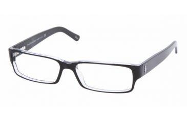 Polo PH 2039 Eyeglasses Styles Top Black/Crystal Frame w/Non-Rx 52 mm Diameter Lenses, 5011-5215, Polo Sport PH 2039 Eyeglasses Styles Top Black/Crystal Frame w/Non-Rx 52 mm Diameter Lenses