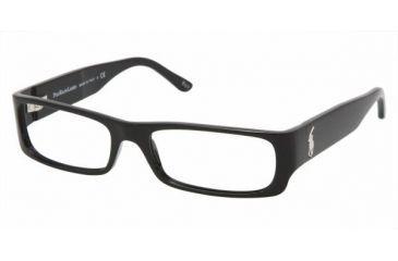 Polo PH 2055 Eyeglasses Styles Shiny Black Frame w/Non-Rx 53 mm Diameter Lenses, 5001-5317