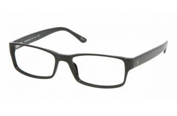Polo PH 2065 Eyeglasses Styles -  Shiny Black Frame w/Non-Rx 54 mm Diameter Lenses, 5001-5416