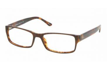 Polo PH 2065 Eyeglasses Styles -  Top Brown/Havana Frame w/Non-Rx 54 mm Diameter Lenses, 5035-5416