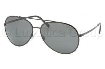 Polo PH 3045 Sunglasses Styles Shiny Black Frame / Gray Lenses, 900387-6115