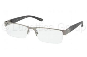 Polo PH1117 Single Vision Prescription Eyeglasses 9157-5417 - Brushed Gunmetal Frame, Demo Lens Lenses