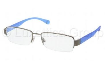 Polo PH1118 Progressive Prescription Eyeglasses 9157-5217 - Brusched Dark Gunmetal Frame, Demo Lens Lenses