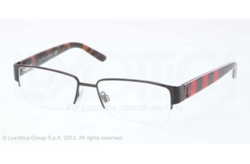 Polo PH1140 Single Vision Prescription Eyeglasses 9258-53 - Shiny Black Frame