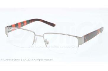 Polo PH1140 Single Vision Prescription Eyeglasses 9261-53 - Shiny Gunmetal Frame