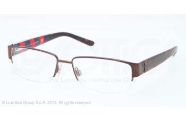 Polo PH1140 Single Vision Prescription Eyeglasses 9262-53 - Matte Brown Frame