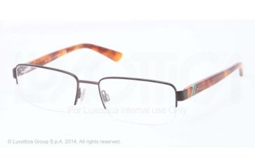 Polo PH1143 Eyeglass Frames 9265-53 - Semi Shiny Dark Brown Frame