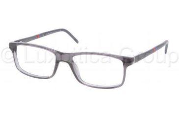 Polo PH2074 Eyeglass Frames 5195-5216 - Dark Gray Transparent